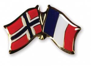 Bilde av Vennskaps pin Norge - Frankrike