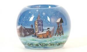 Bilde av Håndmalt telysholder, Røros - God Jul
