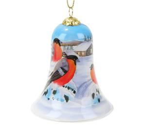Bilde av Håndmalt julebjelle i glass - Dompaper