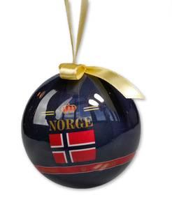 Bilde av Julekule - norsk flagg - royal