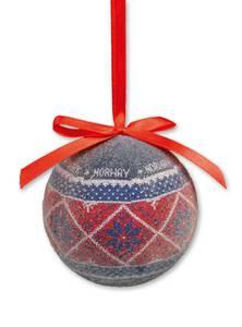 Bilde av Julekule - strikkemønster - frostet
