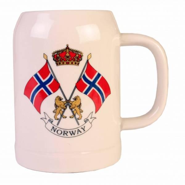 Ølseidel - keramikk - norske flagg