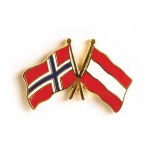 Bilde av Vennskaps pin Norge - Østerrike