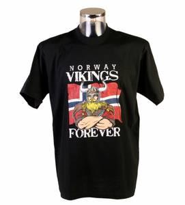 Bilde av T-skjorte - Vikings for ever - sort