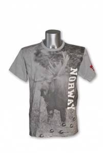 Bilde av T-skjorte - Elgmotiv og patch -  Grå