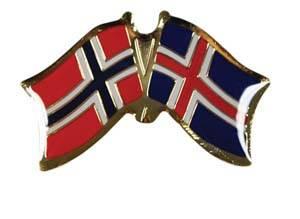 Bilde av Vennskaps pin Norge - Island