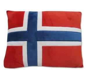 Bilde av Pute i norsk flagg