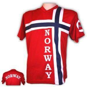 Bilde av Supporter t-skjorte i norsk flagg, voksen