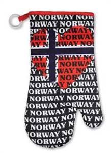 Bilde av Grillvott - Sort - Norsk flagg - Hjerte