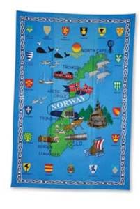 Bilde av Kjøkkenhåndkle - Norgeskart