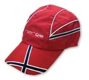 Bilde av Supportercap - Vanntett - Norway- Rød
