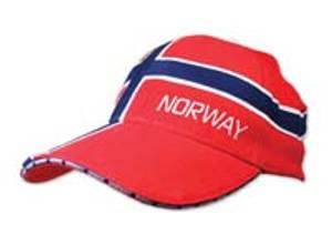 Bilde av Supportercap - Heldekkende norsk flagg