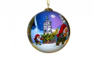 Bilde av Julekule i plast med nissemotiv