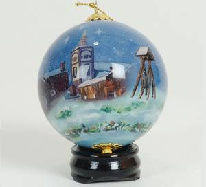 Bilde av Håndmalt julekule i glass -