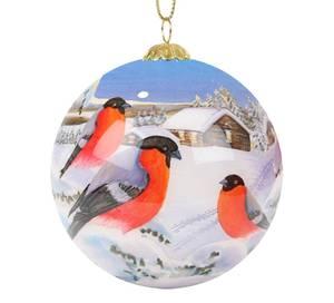 Bilde av Håndmalt julekule i glass - Dompap