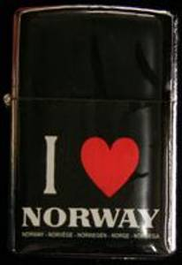 Bilde av Zippo Lighter - I love Norway