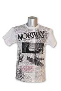 Bilde av T-skjorte - Vkingmotiv - Hvit