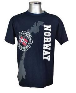 Bilde av T-skjorte - Norges kart med patch - Svart