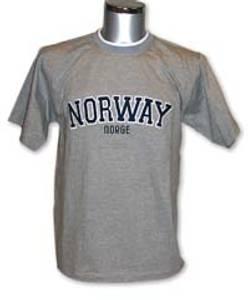 Bilde av T-skjorte - Norway brodert - grå