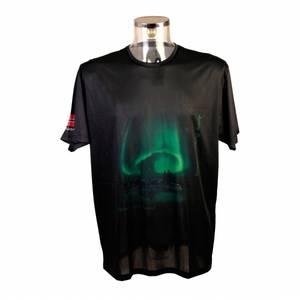Bilde av T-skjorte, sort med nordlysmønster