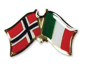 Bilde av Vennskaps pin Norge - Italia