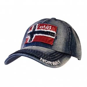 Bilde av Cap - Norsk flagg - Blå vasket