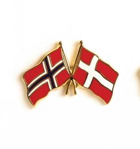 Bilde av Vennskaps pin Norge - Danmark