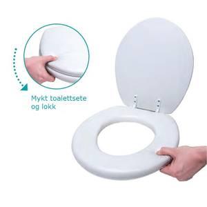 Bilde av Mykt toalettsete med lokk