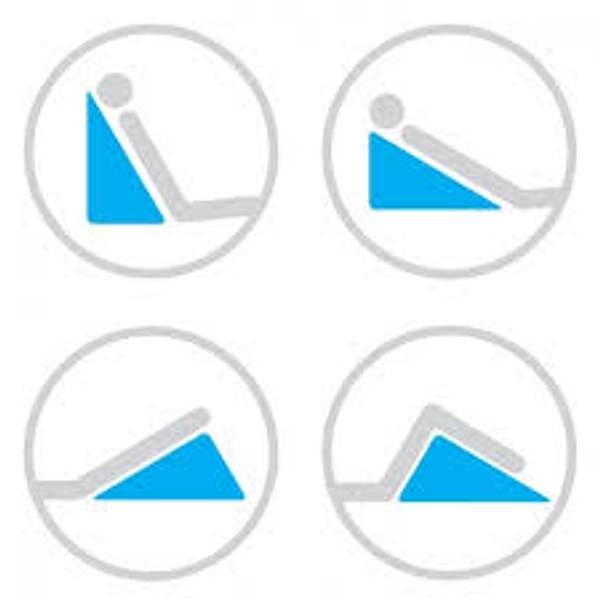 Triangel / trekant  pute til seng for refluks / hjerte ol.