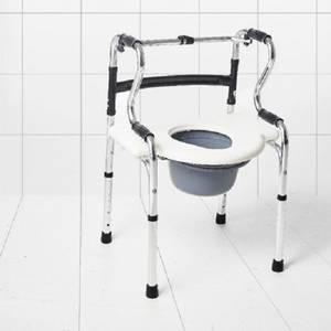 Bilde av Flyttbar toalettstol / toalettforhøyer med armlener mm - 6 funks