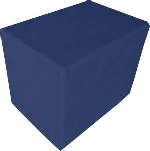 Bilde av Firkantet kube pute / pølle - blå