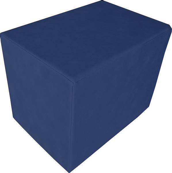 Firkantet kube pute / pølle - blå