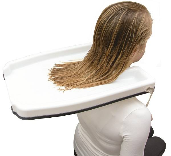 Hårvaskefat for lettere skylling