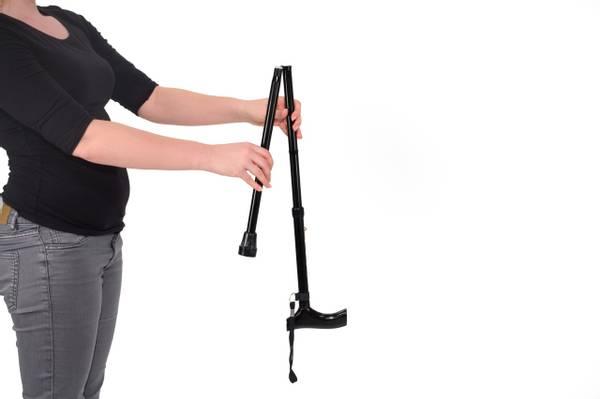 VITILITY Sammenleggbar stokk med stropp og pose