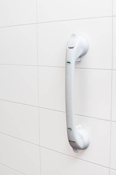 VITILITY mobilt handtak m. sugekopper - stor størrelse