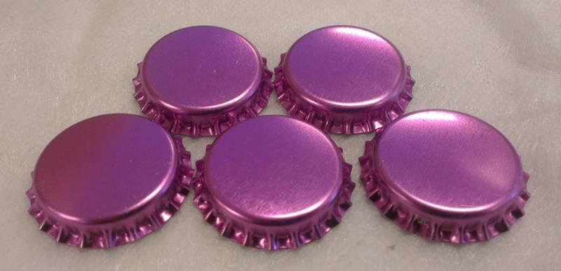 Flaskekapsler Lilla Metallic 26mm