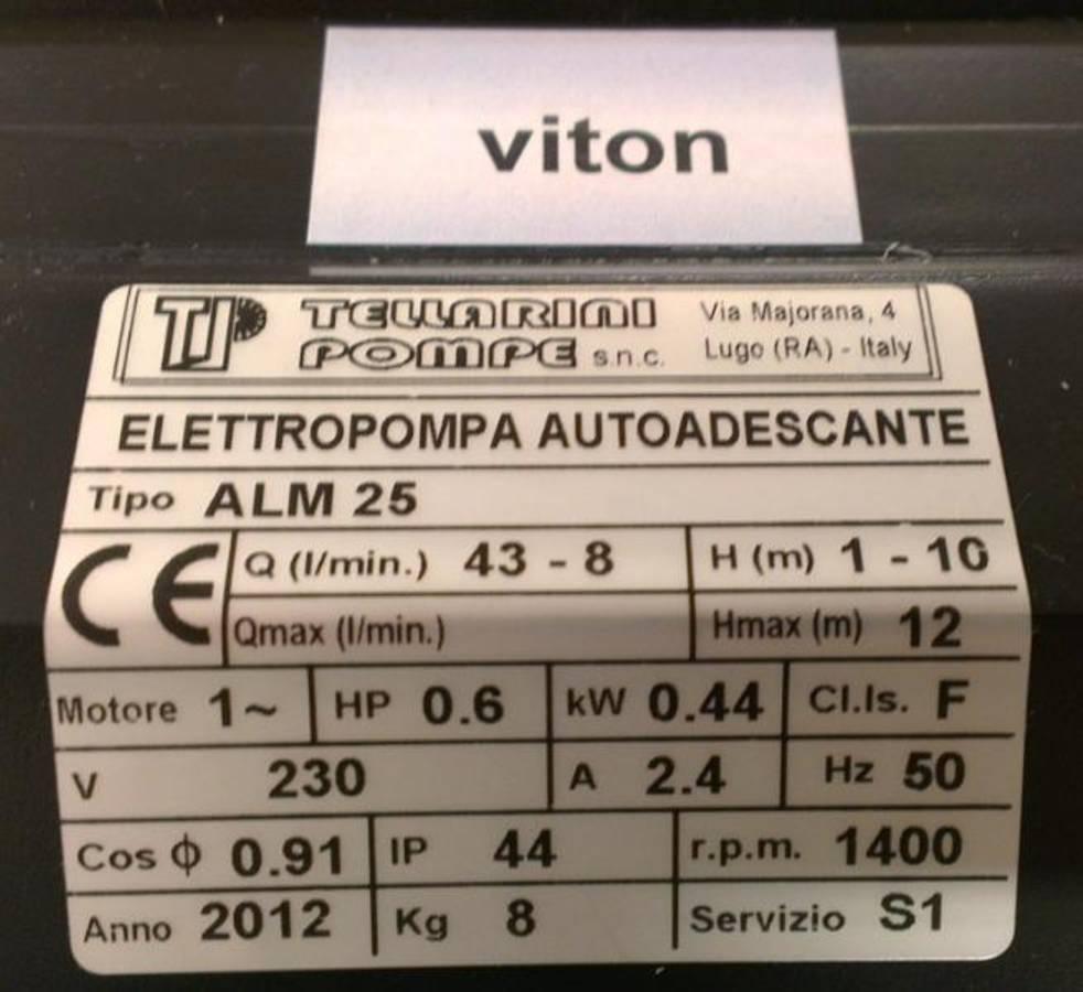 Tellarini 701 ALM 25 Viton + By Pass