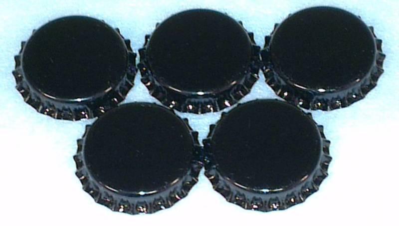 Flaskekapsler Svart 26mm