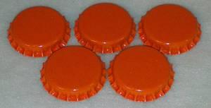 Bilde av Flaskekapsler Oransje 26mm