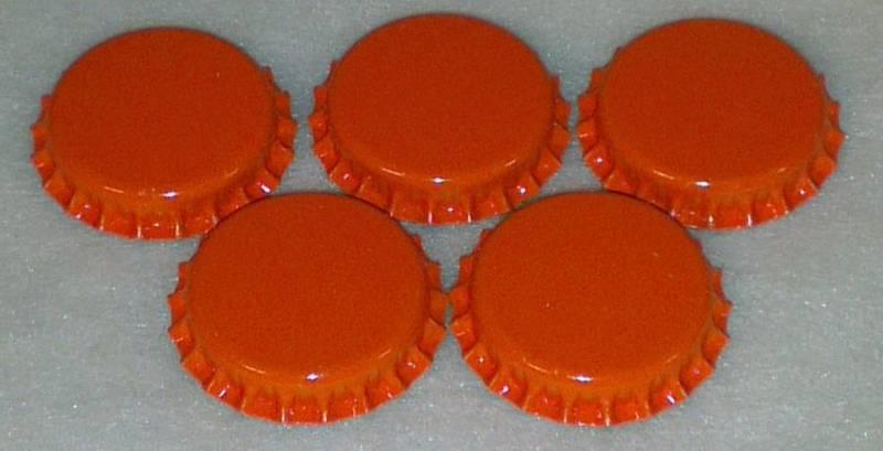 Flaskekapsler Oransje 26mm