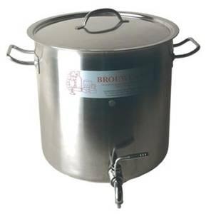 """Bilde av Rustfri kjele, 36 liter med 1/2"""" kulekran"""