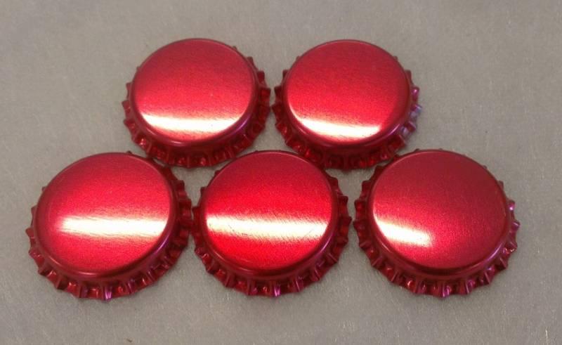 Flaskekapsler Rød Metallic 26mm