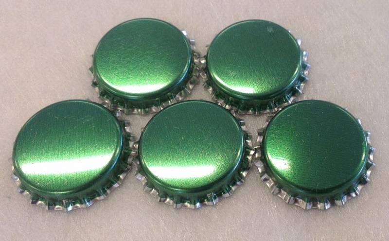 Flaskekapsler Grønn Metallic 26mm