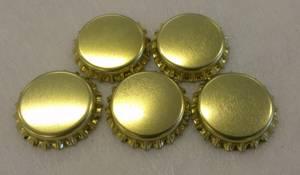 Bilde av Flaskekapsler Gull Metallic 26mm