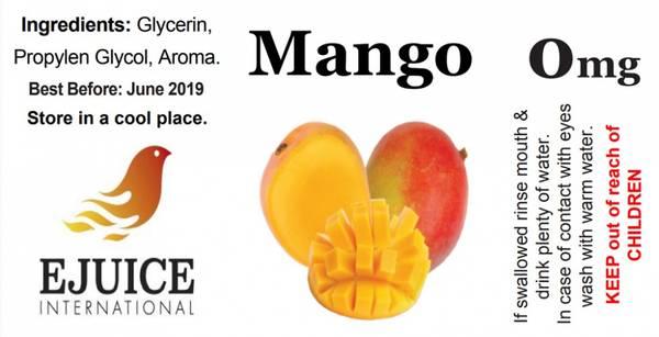 Bilde av Ejuice International - Mango, Ejuice 40/60ml