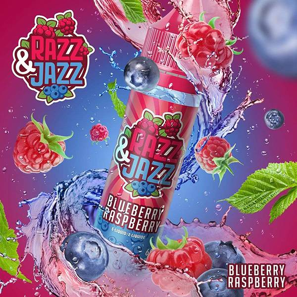 Bilde av Razz & Jazz Blueberry Raspberry, Ejuice 50/60ml