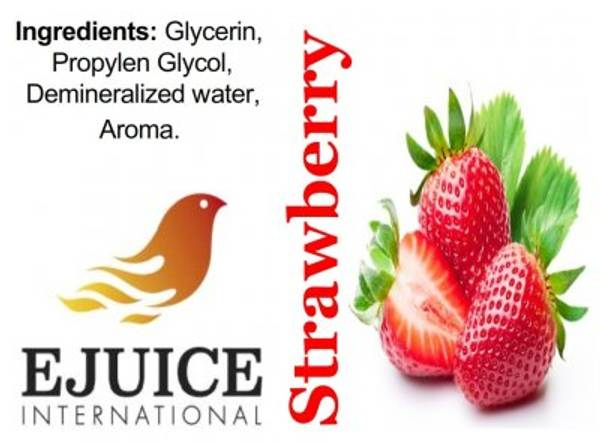 Bilde av Ejuice International - Strawberry, Ejuice 40/60