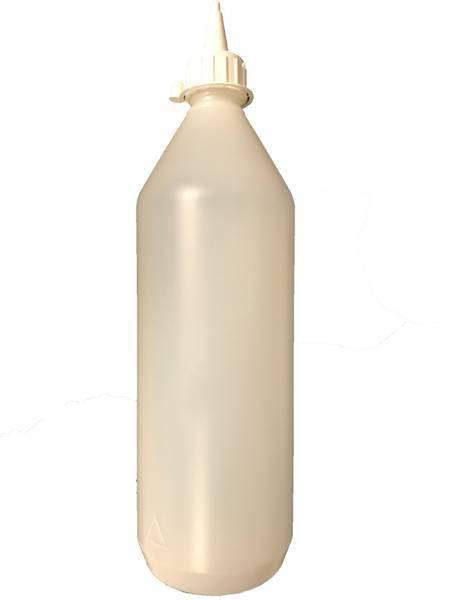 Bilde av Plastflaske - Transparent 1l/m spiss kork