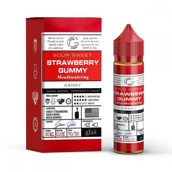 Bilde av Glas Basix - Strawberry Gummy, Ejuice 50/60 ml