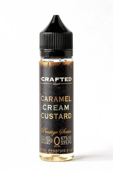 Bilde av Crafted Liquid Caramel Custard, Ejuice 40/60ML